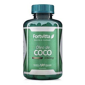 Óleo de Coco Acelera o Emagrecimento - 1000mg - com 120 cápsulas - Fortvitta