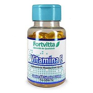 Vitamina E - Alto Poder Antioxidante com 60 cápsulas - Fortvitta