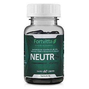 Neutro Bloqueador de Odores 60 cápsulas Fonte de Vitaminas Fortvitta