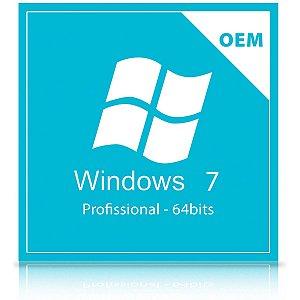 Licença Microsoft Windows 7 Professional 64-Bits Português - Oem