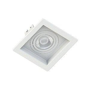Embutido Quadrado Dicroica Recuado Branco Save Energy