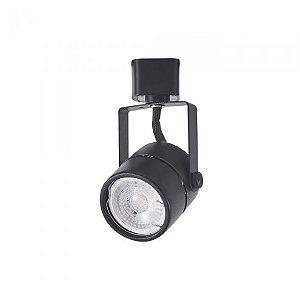 Spot para Trilho Classic MR16 Preto MB LED