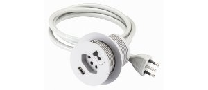 Passa fio 3x1 Tomada Elétrica, Tomada USB e Passa Fio Renna