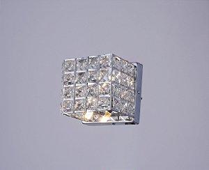 Arandela de Cristal Luxor lll Cromada Arquitetizze