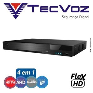 DVR Tecvoz 08 Canais Flex HD Alta Resolução TW-E308