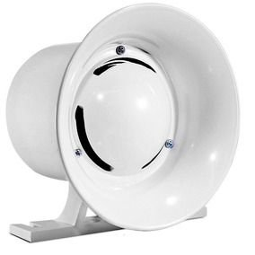 Sirene Para Alarme E Cercas Elétricas 12v 120db - Pc Vision - Branca ou Preta