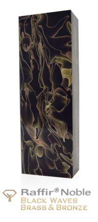 Raffir Noble Black Waves Brass & Bronze