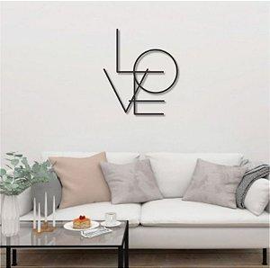 Kit Esculturas de Parede Love Home Coração