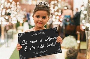 Placa de Casamento - Frase Personalizável - Modelo 01