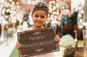 Placa de Casamento - Frase Personalizável - Modelo 14