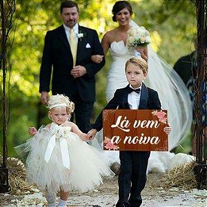 Placa de Casamento - Frase Personalizável - Modelo 30