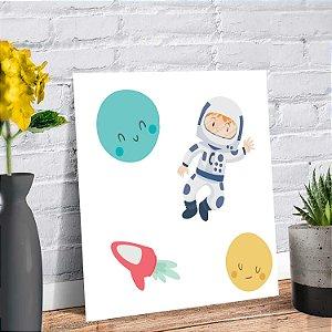 Placa Decorativa Decoração Infantil Astronauta