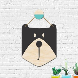 Flâmula Decoração Infantil Urso