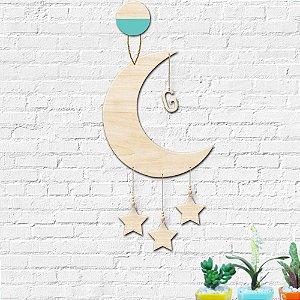 Mobile Lua Estrelas Decoração Infantil