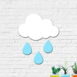 Nuvem com Chuva MDF Decoração Infantil