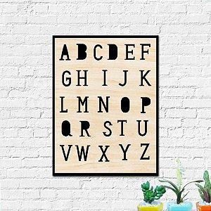 Placa Decorativa Alfabeto Decoração