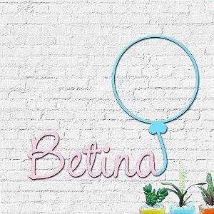 Nome Personalizado Decorativo Balão