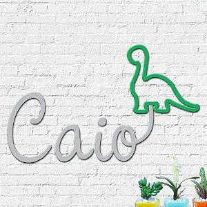 Nome Personalizado Decorativo Dinossauro