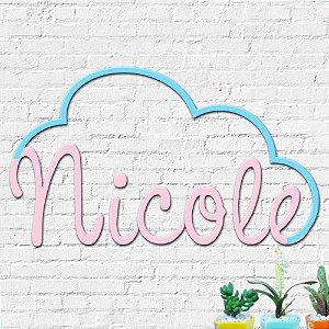 Nome Personalizado Decorativo Nuvem
