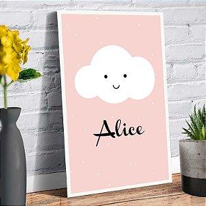 Placa Decorativa Decoração Infantil Nuvem Nome Personalizado