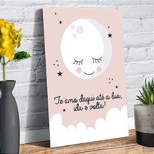 Placa Decorativa Decoração Infantil Te amo Lua