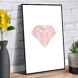 Placa Decorativa Decoração Casa Diamante