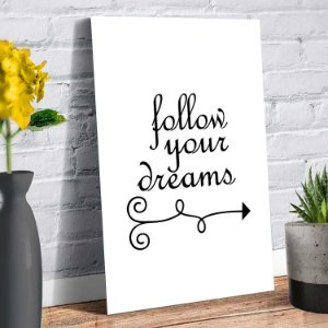 Placa Decorativa Decoração Casa Frase Dreams
