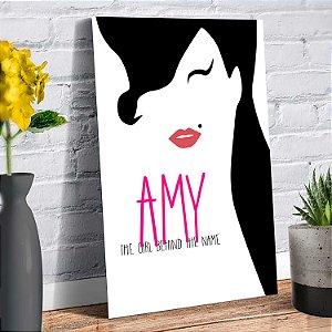 Placa Decorativa Decoração Casa Amy Winehouse