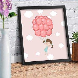 Quadro Decorativo Decoração Infantil Menina Balão