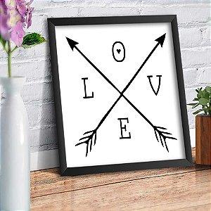 Quadro Decorativo Decoração Infantil Love Flechas