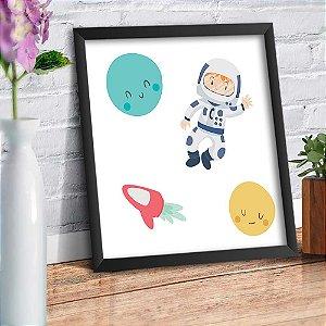 Quadro Decorativo Decoração Infantil Astronauta