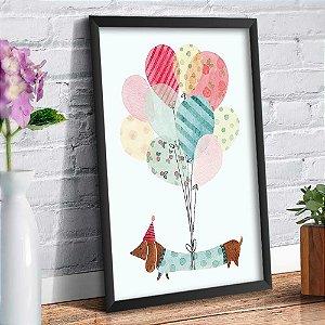 Quadro Decorativo Decoração Infantil Cachorro Balões