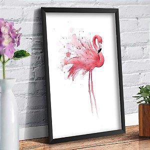 Quadro Decorativo Decoração Flamingo