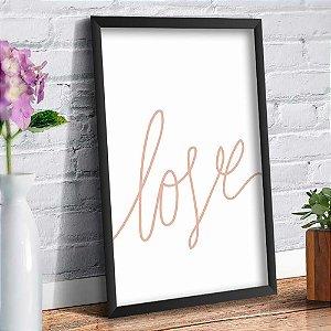 Quadro Decorativo Decoração Frase Love