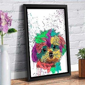 Quadro Decorativo Decoração Cachorro Yorkshire