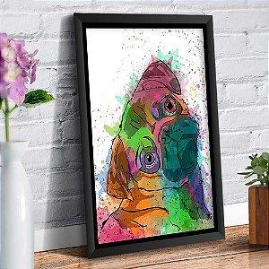 Quadro Decorativo Decoração Cachorro Pug