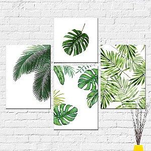 Kit Placas Decorativas Decoração Folhas