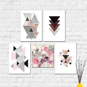 Kit Placas Decorativas Decoração Abstrato