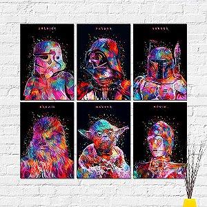 Kit Placas Decorativas Decoração Star Wars