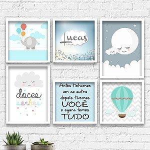 Kit Quadros Decorativos Decoração Infantil Doces Sonhos Menino