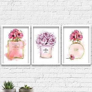 Kit Quadros Decorativos Decoração Perfume Channel