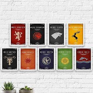 Kit Quadros Decorativos Decoração Game of Thrones