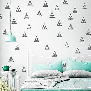 Adesivos de Parede Triângulo Montanha