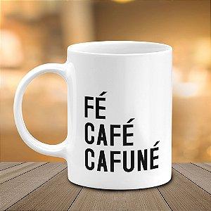 Caneca Fé Café Cafuné
