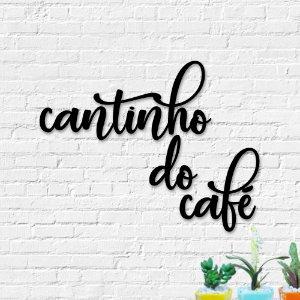 Palavra Decorativa de Parede Cantinho do Café
