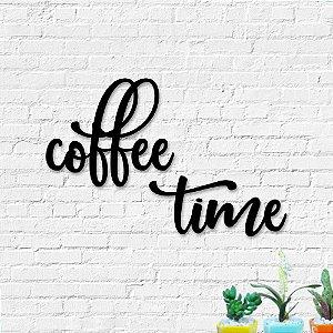 Palavra Decorativa de Parede Coffe Time