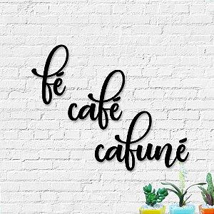 Palavra Decorativa de Parede Fé Café Cafuné