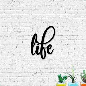 Palavra Decorativa de Parede Life
