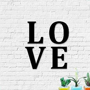 Palavra Decorativa de Parede Love