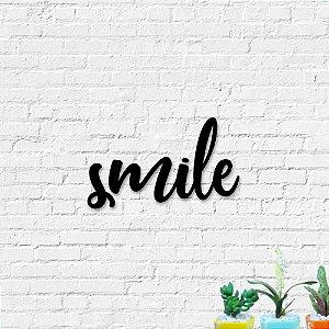 Palavra Decorativa de Parede Smile